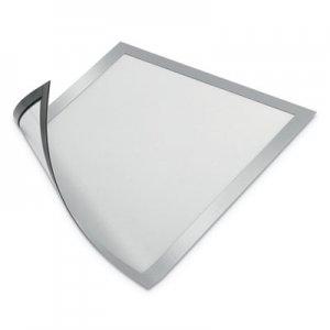 Durable DURAFRAME Magnetic Sign Holder, 8.5 x 11, Silver Frame, 2/Pack DBL477123 477123