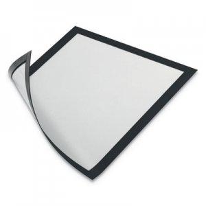 Durable DURAFRAME Magnetic Sign Holder, 8.5 x 11, Black Frame, 2/Pack DBL477101 477101