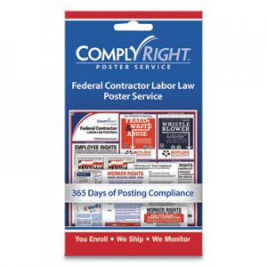 "ComplyRight Labor Law Poster Service, ""Federal Contractor Labor Law"", 4w x 7h COS098435 098435"