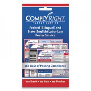 """ComplyRight Labor Law Poster Service, """"State Labor Law"""", 4w x 7h COS098434 098434"""