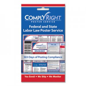 "ComplyRight Labor Law Poster Service, ""State/Federal Labor Law"", 4w x 7h COS098433 098433"