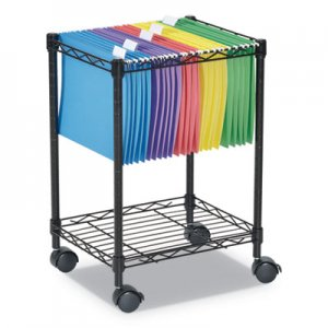 Alera Compact Rolling File Cart, 15.25w x 12.38d x 21h, Black ALEFW601416BL