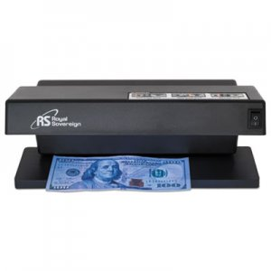 "Royal Sovereign Ultraviolet Counterfeit Detector, U.S. Currency, 10.6"" x 4.7"" x 4.7"", Black RSIRCD1000 RCD-1000"
