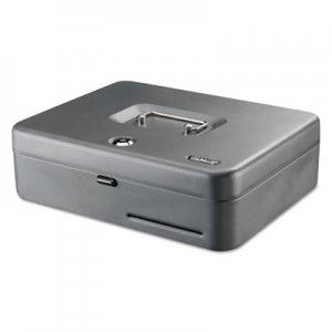 "SteelMaster Tiered Cash Box with Bill Weights, 2 Keys, 9.84"" x 9.84"" x 11.81"", Steel, Gray MMF2216194GC2"