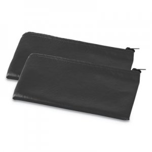 Genpak Zippered Wallets/Cases, 11w x 6h, Black, 2/PK UNV69021