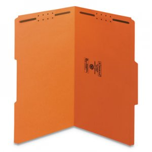 Smead Top Tab Colored 2-Fastener Folders, 1/3-Cut Tabs, Legal Size, Orange, 50/Box SMD17540 17540