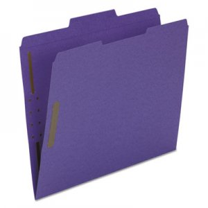 Smead Top Tab Colored 2-Fastener Folders, 1/3-Cut Tabs, Letter Size, Purple, 50/Box SMD13040 13040