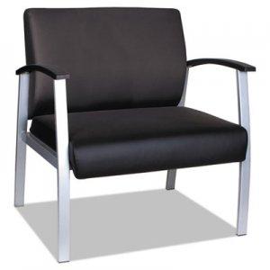 """Alera Alera metaLounge Series Bariatric Guest Chair, 31"""" x 26"""" x 33.63"""", Black Seat/Black Back, Silver Base ALEML2219"""