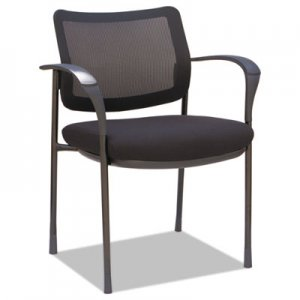 "Alera Alera IV Series Guest Chairs, 25.38"" x 20.88"" x 33"", Black Seat/Black Back, Black Base, 2"