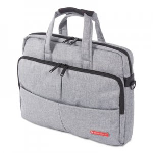 "Swiss Mobility Sterling Slim Briefcase, Holds Laptops 15.6"", 3"" x 3"" x 11.75"", Gray SWZEXB1068SMGRY EXB1068SMGRY"