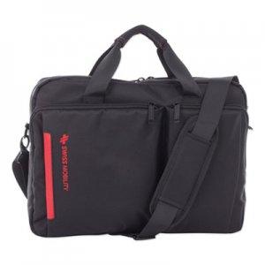 """Swiss Mobility Stride Executive Briefcase, Holds Laptops 15.6"""", 4"""" x 4"""" x 11.5"""", Black SWZEXB1020SMBK EXB1020SMBK"""