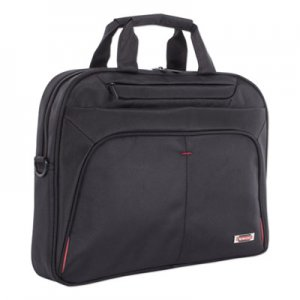 """Swiss Mobility Purpose Slim Executive Briefcase, Hold Laptops 15.6"""", 2.5"""" x 2.5"""" x 12"""", Black SWZEXB1007SMBK EXB1007SMBK"""