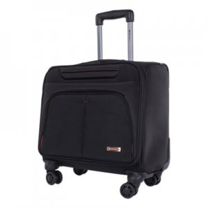 "Swiss Mobility Purpose Overnight Business Case On Spinner Wheels, 9.5"" x 9.5"" x 17.5"", Black SWZBZCW1003SMBK BZCW1003SMBK"