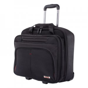 "Swiss Mobility Purpose Business Case On Wheels, Holds Laptops 15.6"", 8.5"" x 8.5"" x 16"", Black SWZBZCW1002SMBK"