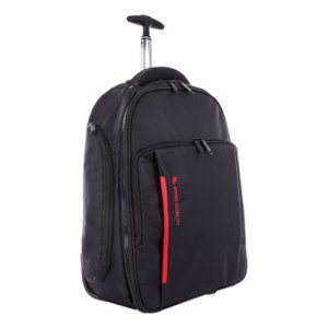 "Swiss Mobility Stride Business Backpack On Wheels, For Laptops 15.6"", 10"" x 10"" x 21.5"", Black SWZBKPW1018SMBK BKPW1018SMBK"