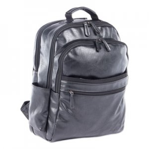 "Swiss Mobility Valais Backpack, Holds Laptops 15.6"", 5.5"" x 5.5"" x 16.5"", Black SWZBKP116SMBK BKP116SMBK"