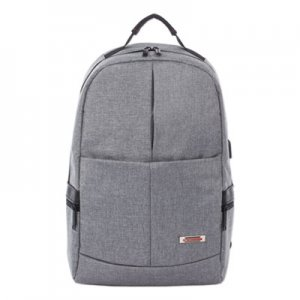 "Swiss Mobility Sterling Slim Business Backpack, Holds Laptops 15.6"", 5.5"" x 5.5"" x 18"", Gray SWZBKP1066SMGRY BKP1066SMGRY"