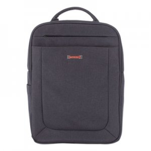 "Swiss Mobility Cadence 2 Section Business Backpack, For Laptops 15.6"", 6"" x 6"" x 17"", Charcoal SWZBKP1012SMCH BKP1012SMCH"