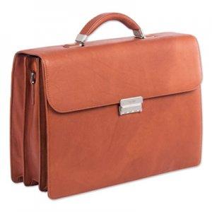 """Swiss Mobility Milestone Briefcase, Holds Laptops 15.6"""", 5"""" x 5"""" x 12"""", Cognac SWZ49545807SM 49545807SM"""