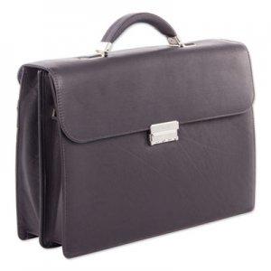 """Swiss Mobility Milestone Briefcase, Holds Laptops, 15.6"""", 5"""" x 5"""" x 12"""", Brown SWZ49545802SM 49545802SM"""