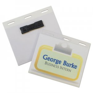 "C-Line Self-Laminating Magnetic Style Name Badge Holder Kit, 3"" x 4"", Clear, 20/Box CLI92843 92843"