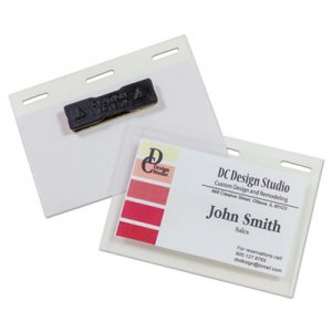 "C-Line Self-Laminating Magnetic Style Name Badge Holder Kit, 2"" x 3"", Clear, 20/Box CLI92823 92823"