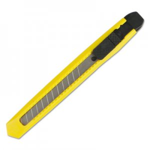 Boardwalk Snap Blade Knife, Retractable, Snap-Off, Straight-Edged, Yellow BWKUKNIFE75
