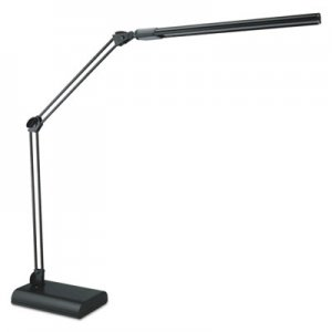 "Alera Adjustable LED Desk Lamp, 21 1/2"" High, Black ALELED908B"