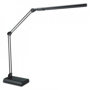 "Alera Adjustable LED Desk Lamp, 3.25""w x 6""d x 21.5""h, Black ALELED908B"