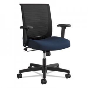 HON Convergence Mid-Back Task Chair with Swivel-Tilt Control, Supports up to 275 lbs., Navy Seat, Black Back, Black