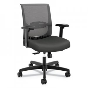 HON Convergence Mid-Back Task Chair with Syncho-Tilt Control/Seat Slide, Supports up to 275 lbs., Iron Ore Seat