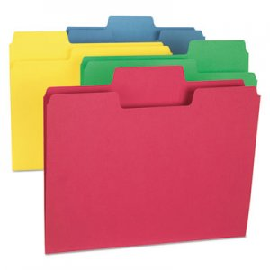 Smead SuperTab Colored File Folders, 1/3-Cut Tabs, Letter Size, Assorted, 24/Pack SMD11956 11956