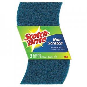 Scotch-Brite Non-Scratch Scour Pads, Size 3 x 6, Blue, 10/Carton MMM62310 62310