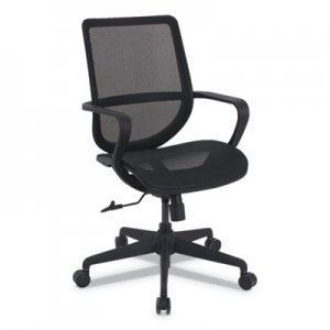 Alera Alera Macklin Series Mid-Back All-Mesh Office Chair, Up to 275 lbs., Black Seat/Back, Black Base ALEKA14218