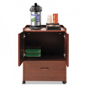 Vertiflex Mobile Deluxe Coffee Bar, 23w x 19d x 30.75h, Cherry VRTVF96033 VF96033