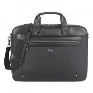 "Solo Irving Briefcase, 16.54"" x 2.36"" x 13.39"", Polyester, Black USLEXE1504 EXE150-4"