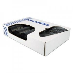 "Heritage X-Liner Reprocessed Liners, 60 gal, 1.7 mil, 38"" x 58"", Black, 100/Carton HERX7658WKR01 X7658WK R01"