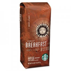 Starbucks Whole Bean Coffee, Breakfast Blend, 1 lb Bag SBK11017860EA 11017860EA