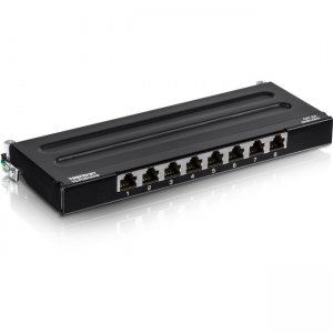 TRENDnet 8-Port Cat6A Shielded Wall Mount Patch Panel TC-P08C6AS