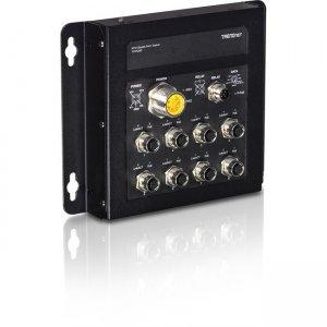TRENDnet 8-Port Industrial EN50155 M12 Gigabit PoE+ Railway Switch TI-TPG80