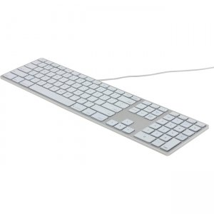 Matias RGB Backlit Wired Aluminum Keyboard for Mac - Silver FK318LS