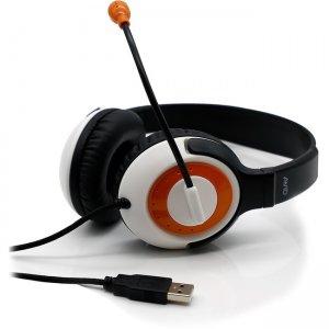 Avid AE-55 USB Headset with Carrying Case, 12 Pack, Orange 8EDU-12CP55-USBORG