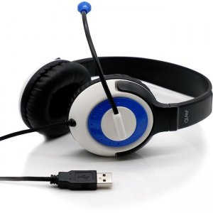 Avid AE-55 USB Headset with Carrying Case, 12 Pack, Blue 8EDU-12CPP55-USBBLU