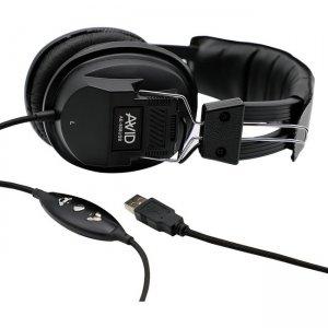 Avid AE-808 USB Headphone with In Line Microphone, Black 1EDU-808USB