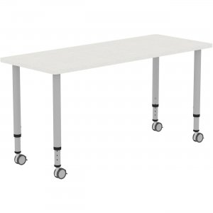 "Lorell Height-adjustable 60"" Rectangular Table 69579 LLR69579"