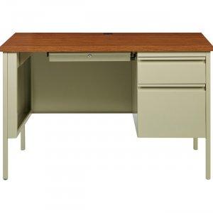 Lorell Fortress Series Oak Laminate Top Desk 66947 LLR66947