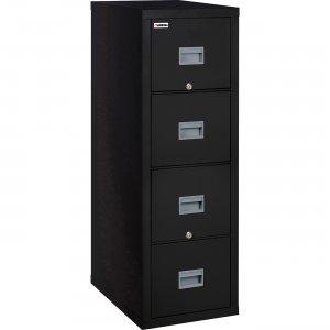 Lorell Black Vertical Fireproof File Cabinet L4P1825CBL LLRL4P1825CBL