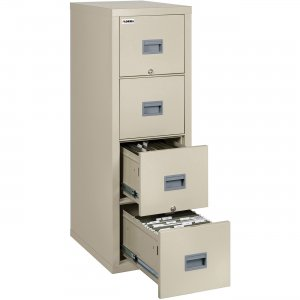 Lorell White Vertical Fireproof File Cabinet L4P1831CPA LLRL4P1831CPA