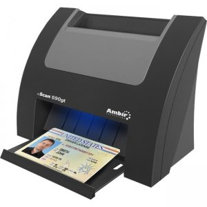 Ambir nScan 690gt Duplex ID Card Scanner w/AmbirScan for athenahealth DS690GT-A3P