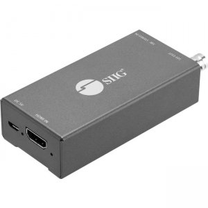 SIIG HDMI to 3G/HD/SD-SDI with Audio Embedder Mini Converter CE-SD0911-S1